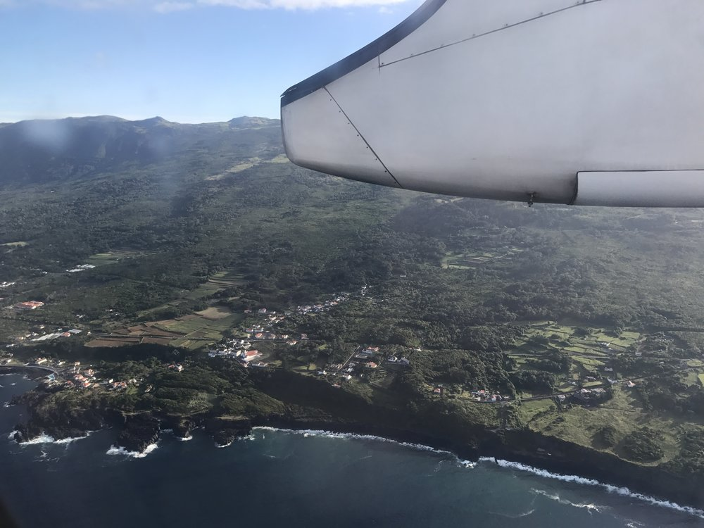 Flying over lovely Pico!