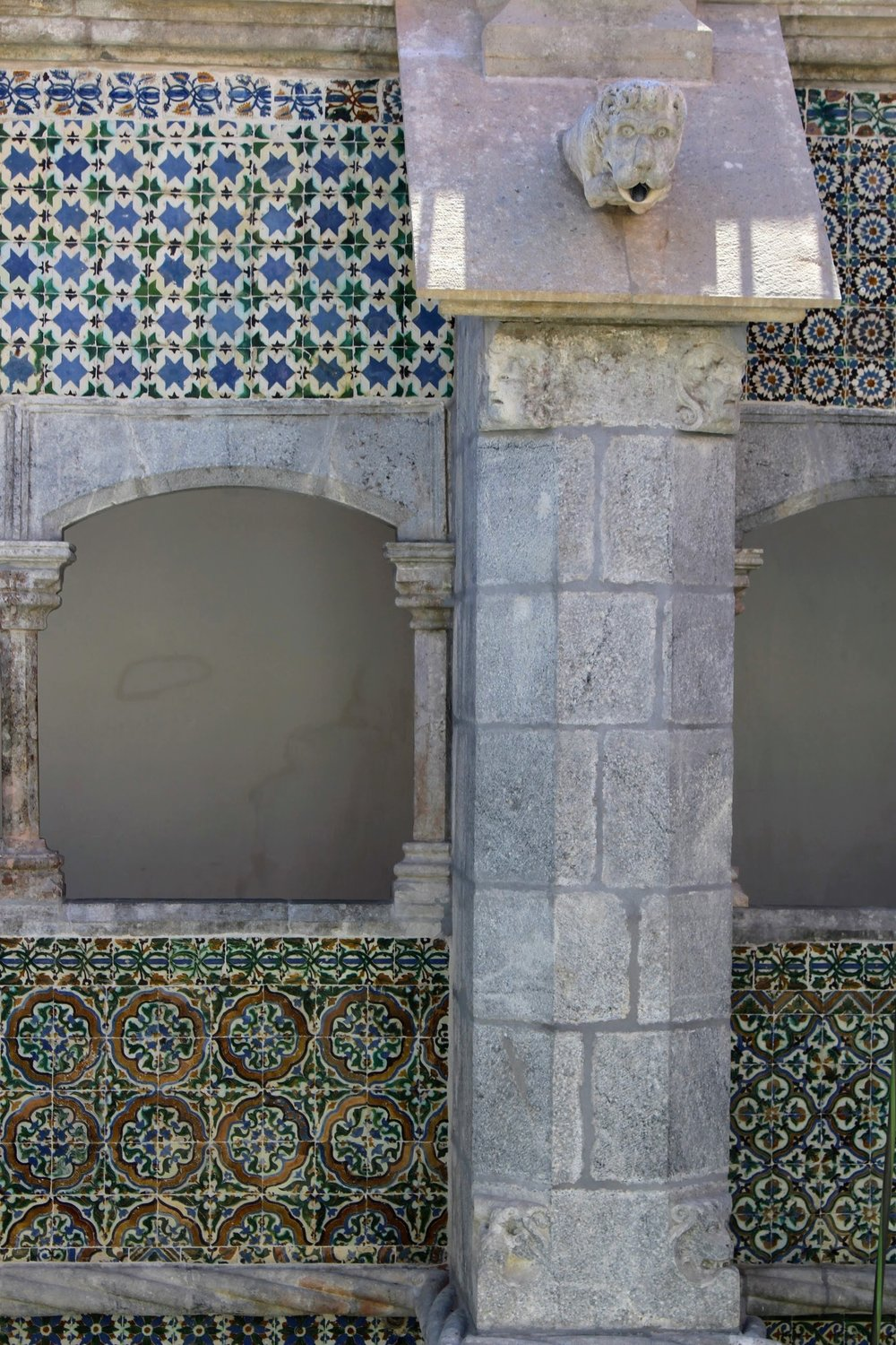 Tiles in the courtyard.