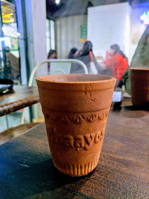 Stopped to get some more chai of course! India serves most of their chai in these biodegradable clay chai cups.