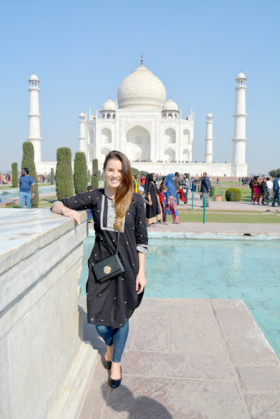 Chillin by the Taj.