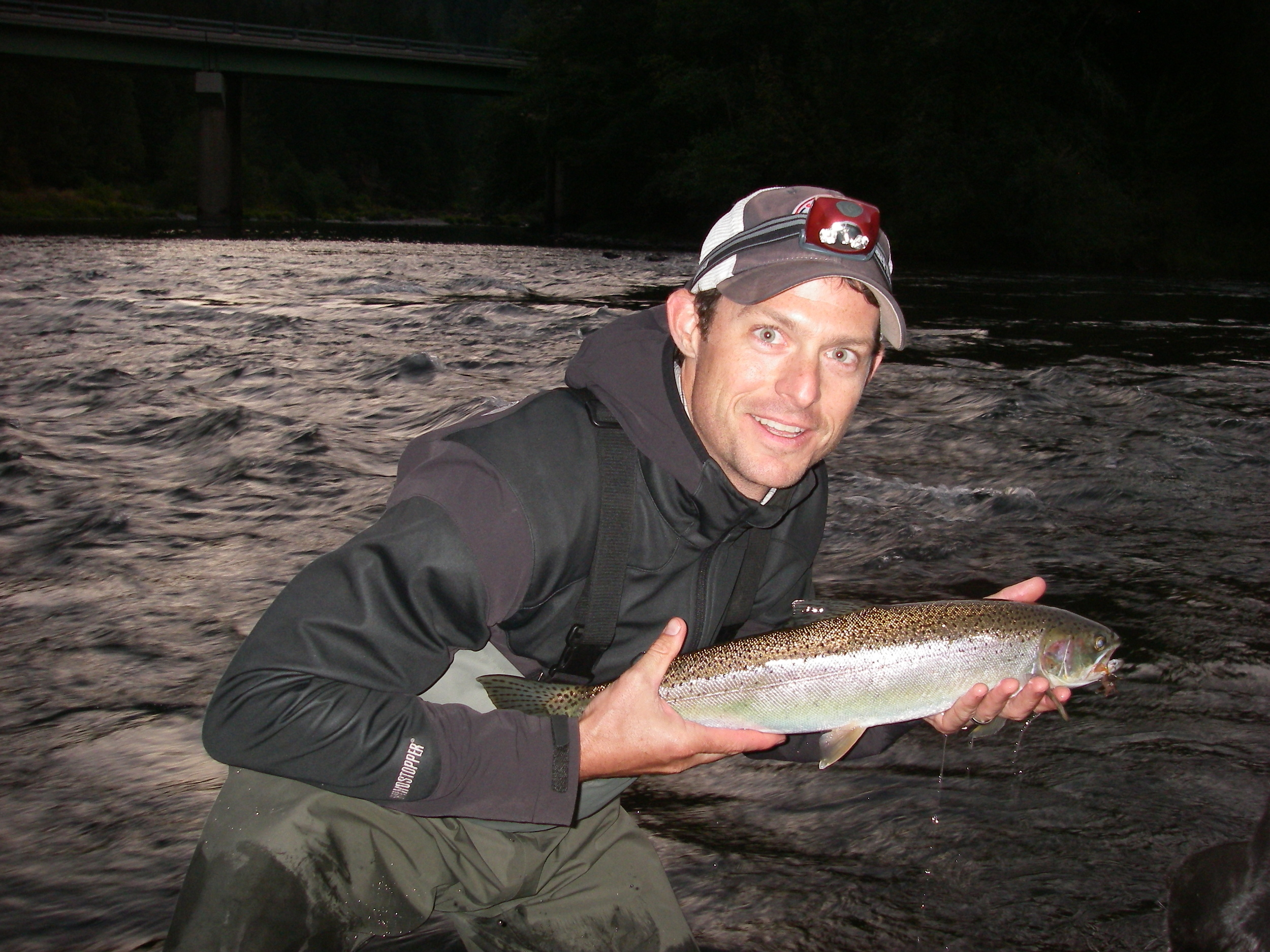 Paul Byron with his first steelhead, congrats Paul