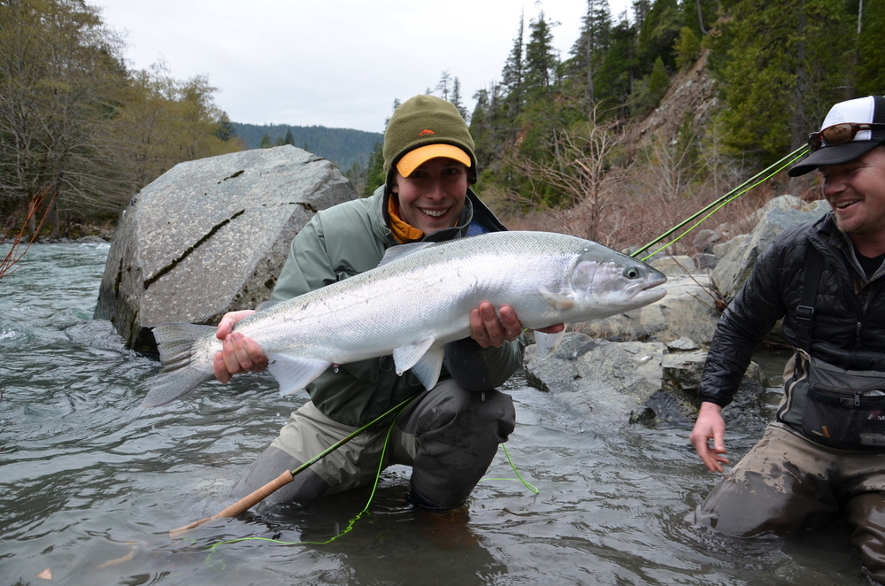 Heart-warming steelhead, Dean Mades with a stunning sea-liced 33' hen,....perfect