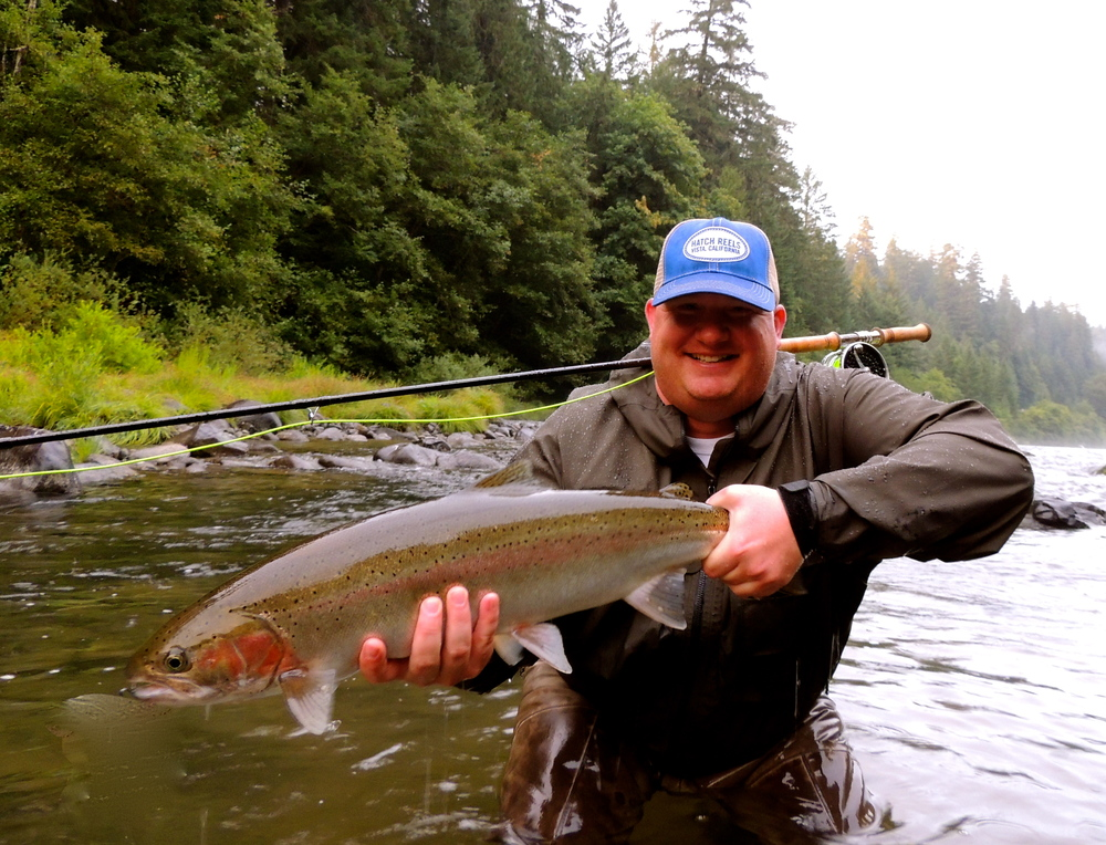 A wet, cool August day, sound good? Brady with a beauty.
