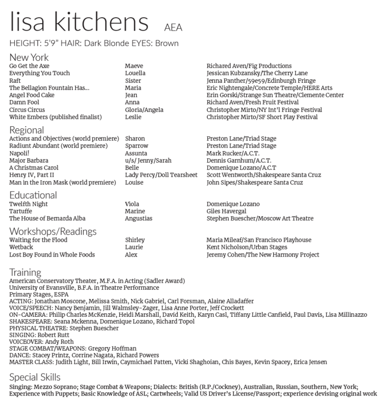 Resume Lisa Kitchens