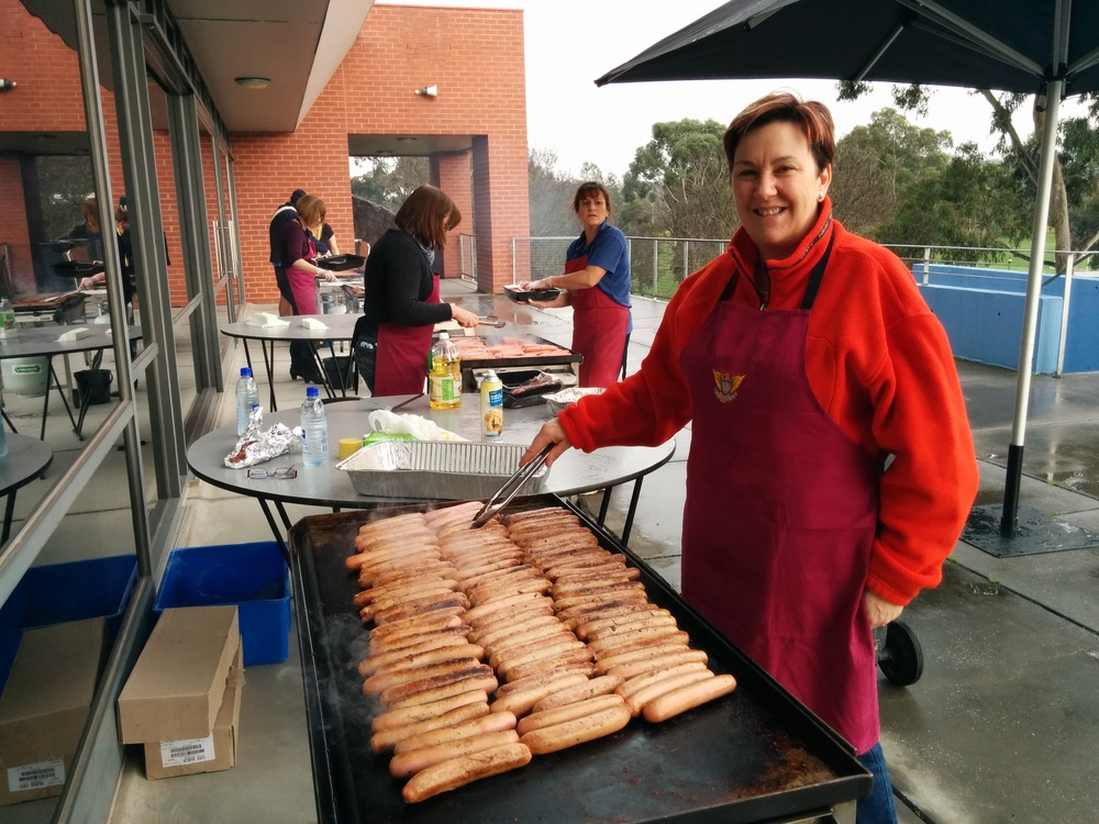 Champagnat Day June 2013 - on the way to sizzling 3,000 sausages