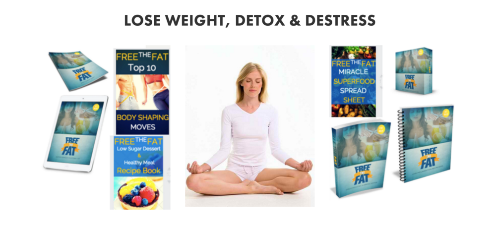 Stress releasing slimming system with the 9 free recipe, workout, and mood enhancing bonuses