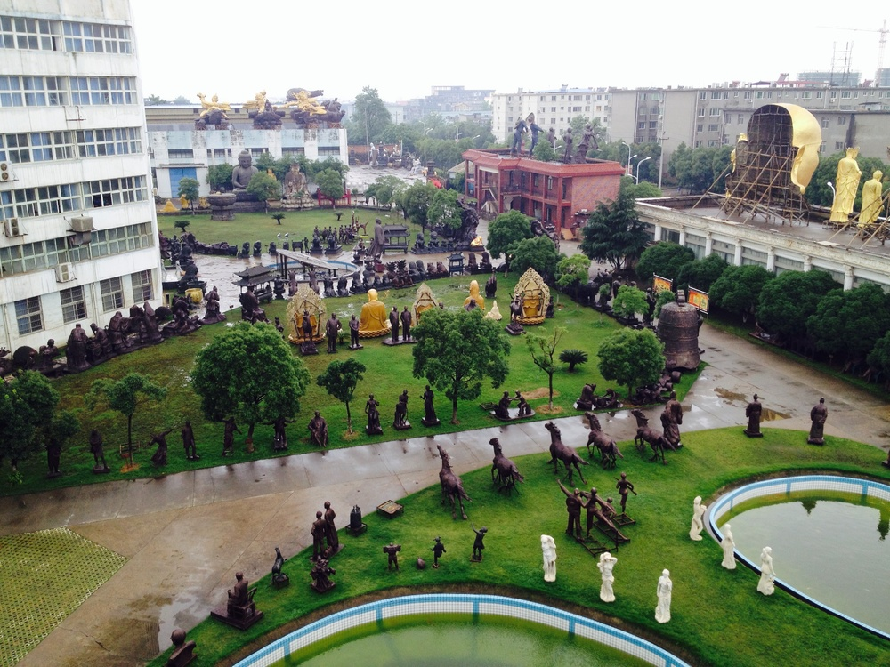 View of the grounds, TQ Art Foundry, Nanchang City, China.