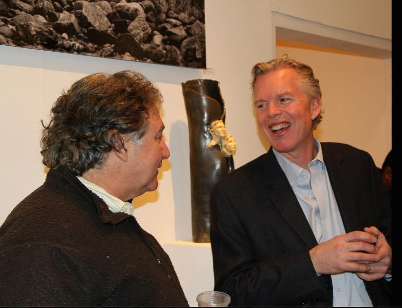 Bob at Lambert Opening 2013-L- Bob Clyatt Sculpture.jpg