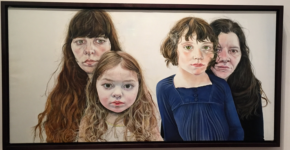 Ishbel Myerscough, Mothers and Daughters, oil on canvas, National Portrait Gallery, London