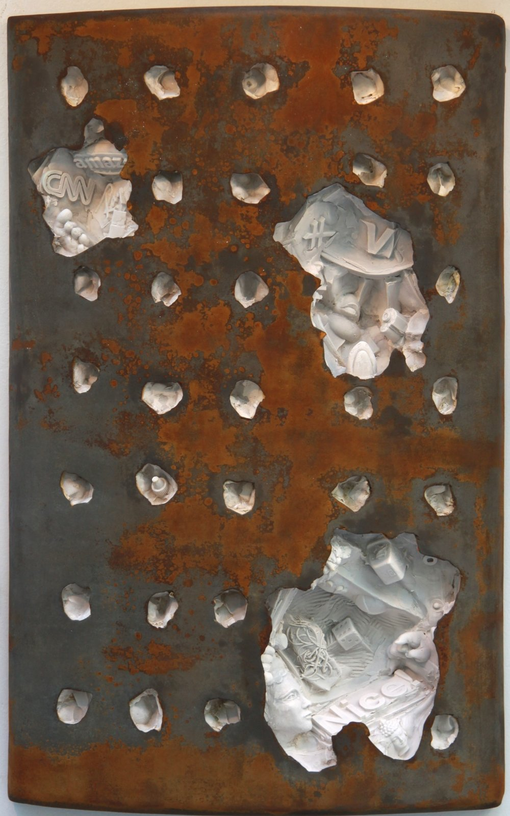 "(C)scape #31, 28""H x 18""W x 5""D, wall-mounted relief sculpture, relief art, contemporary relief sculpture"