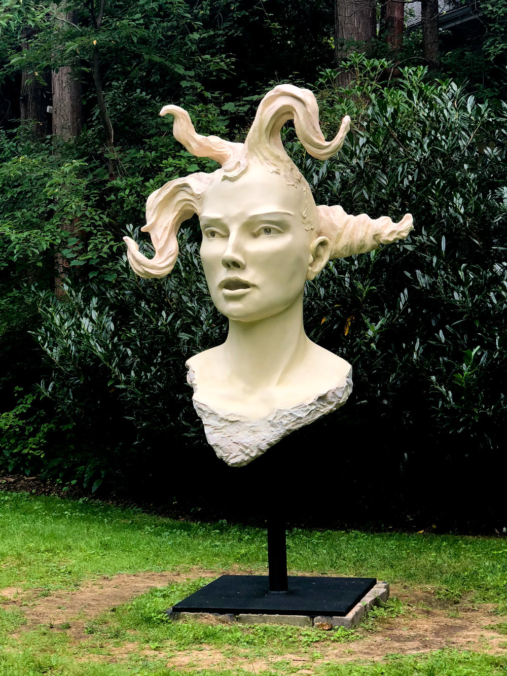 "Emma, cast bronze with cream patina, 84""H x 48""W x 30""D, 2014-2018. Edition of 6"
