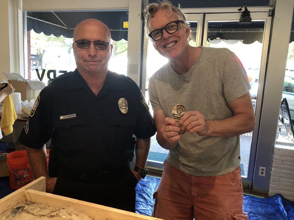 Bob with Policeman-LaGrange GA.JPG