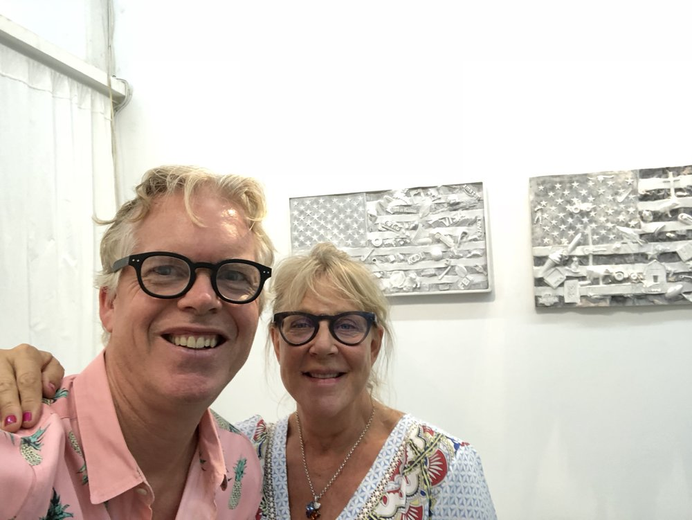 With Anita Nilert discussing the Shared Spaces project in Chelsea, Sept 2018