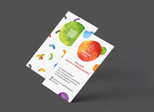 siguldas saldejuma vizitkartes dizains