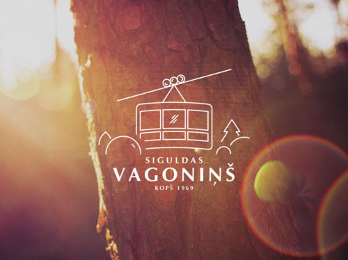 Siguldas vagonins logo dizains