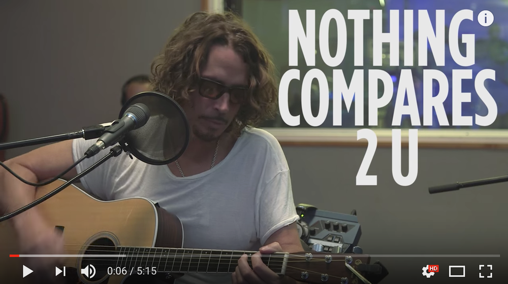 Click the image for Cornell's stripped down and intimate rendition of Prince's Nothing Compares 2 U.