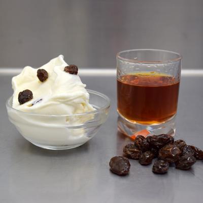 malaga bianco ( 白いラムレーズン )