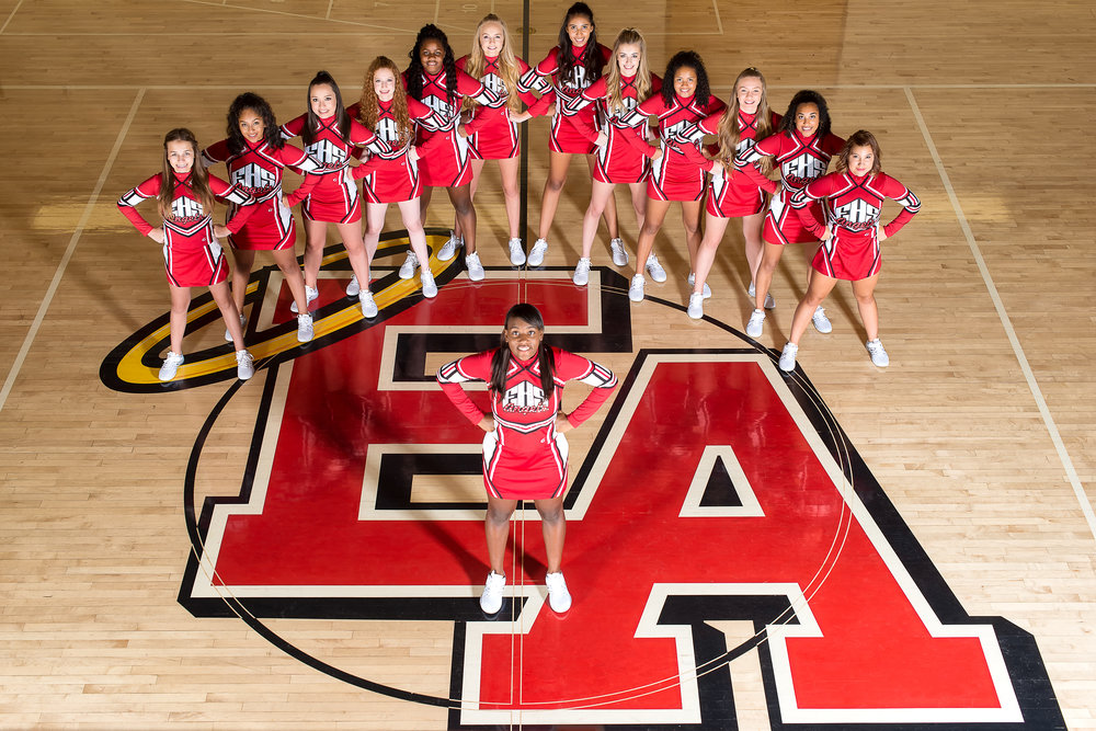 I present to you the 2016 East Angels Poms dance team!