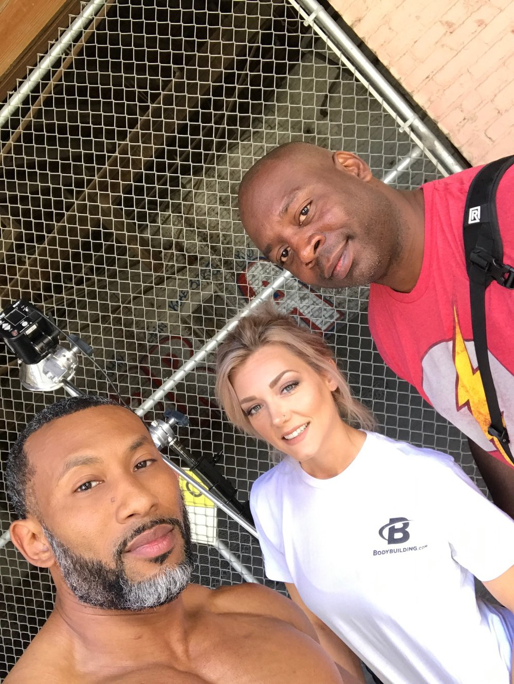 An after shoot selfie with  AJ Ellison , Tessi and myself!