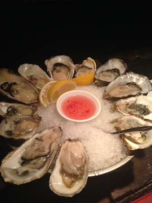 Fresh oysters from The Plump Oyster Bar, Shanghai