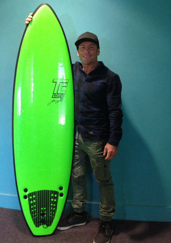 The new Softech Tom 'TC' Carroll 6'0 Comp Softboard.