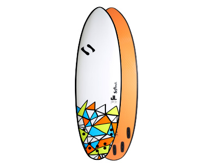 5'8 JL DSS Signature Unique tri/quad fin setup, & eye catching design. All the bells & whistles. LEARN MORE