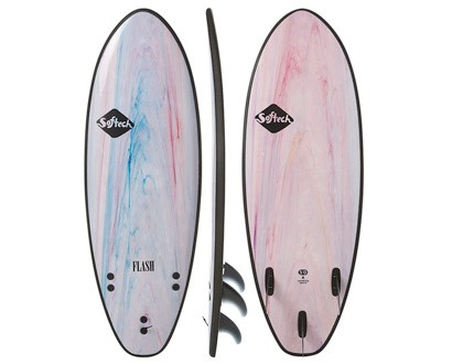 "Flash 5'0"" Peformance Softboard This hybrid shape strikes a balance between paddle power, speed and turning response. LEARN MORE"