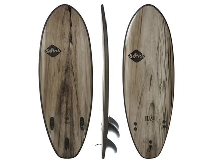 "Flash 5'7"" Performance Softboard    This hybrid shape strikes a balance between paddle power, speed and turning response.      LEARN MORE"
