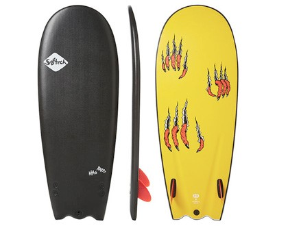 "4'4"" Rocket Attack Short with lots of area up front. Twin fin set-up keeps its nice and loose. LEARN MORE"