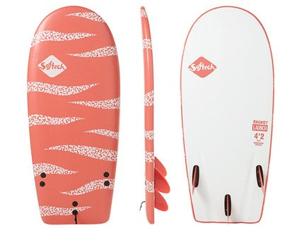 "4'4"" Rocket Launch Short with lots of area up front. Tri fin set up provides plenty of control through turns. LEARN MORE"
