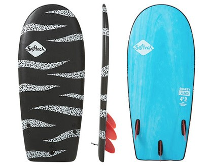 "4'6"" Rocket Launch Short with lots of area up front. Tri fin set up provides plenty of control through turns. LEARN MORE"