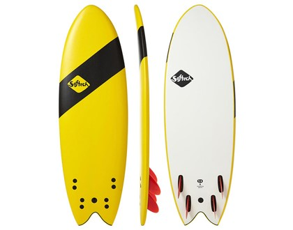 "5'4"" Handshaped Quad Shortboard Fun, fast & stable. The quad fin gives hold, & the fish tail gives speed. LEARN MORE"
