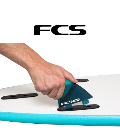 FCS: The original FCS fin system, The world standard in system technology and performance.