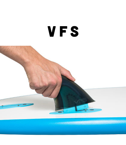 VFS : A screw in removable fin system designed specifically for our Original Series boards. Compatible with FCS fins.