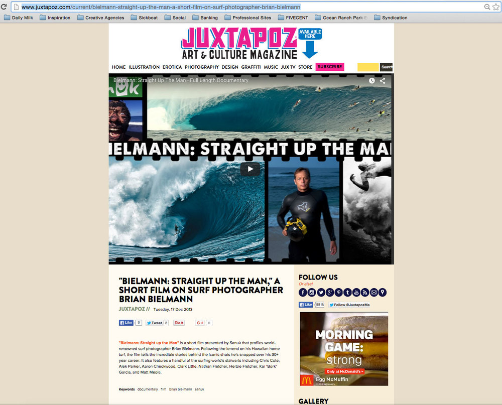 "JUXTAPOZ<a href=""/area-of-your-site"">→</a><strong>FEATURE</strong>"