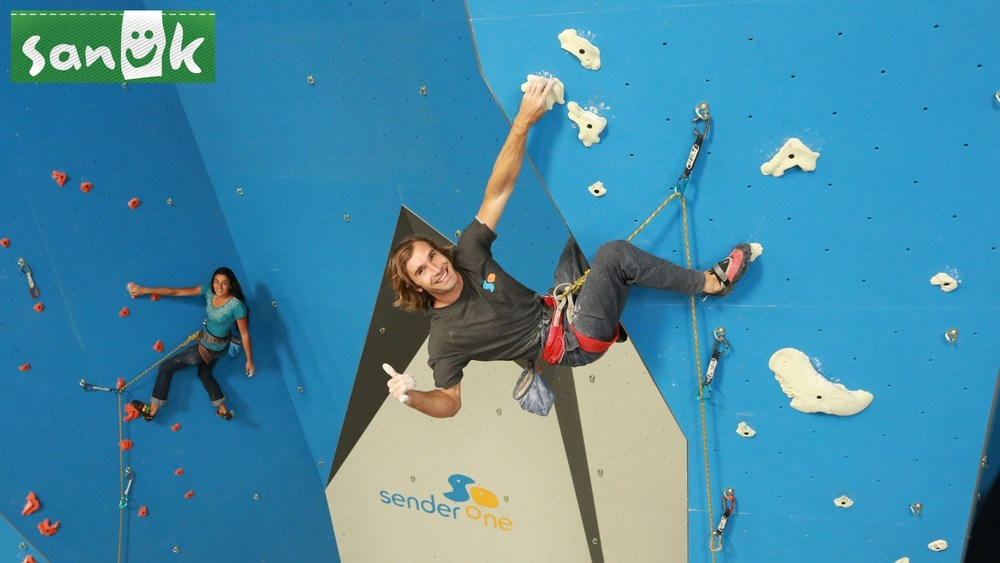 "SENDER ONE CLIMBING GYM<a href=""/area-of-your-site"">→</a><strong>PROMO VIDEO</strong>"