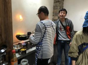 Bruce 丁博 pulling together a fantastic lunch