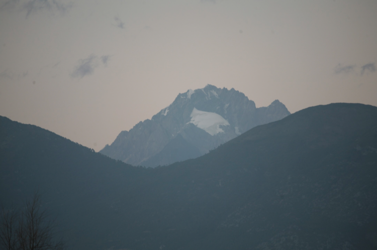 View of Jade Dragon Snow Mountain from Lijiang Studio, Jixiang village, Lashihai