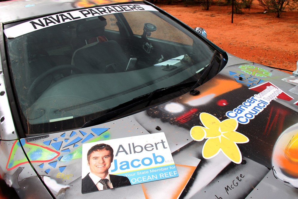 Albert recently sponsored a constituent who participated in a car rally across Australia.