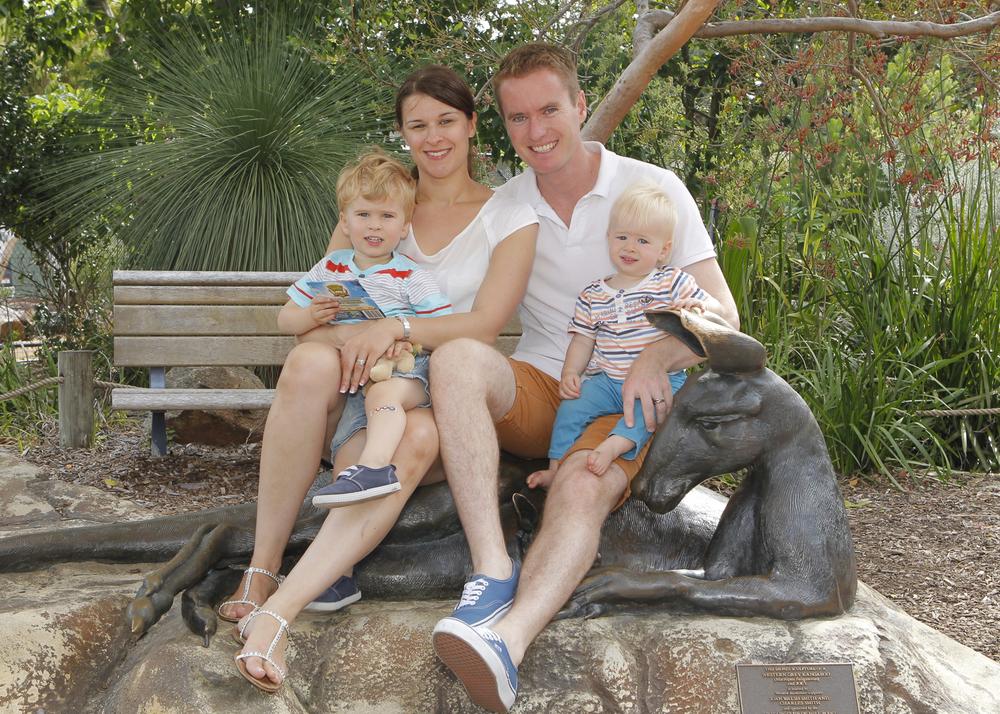 Albert, Cecylia, Joshua and Daniel Jacob at Perth Zoo.