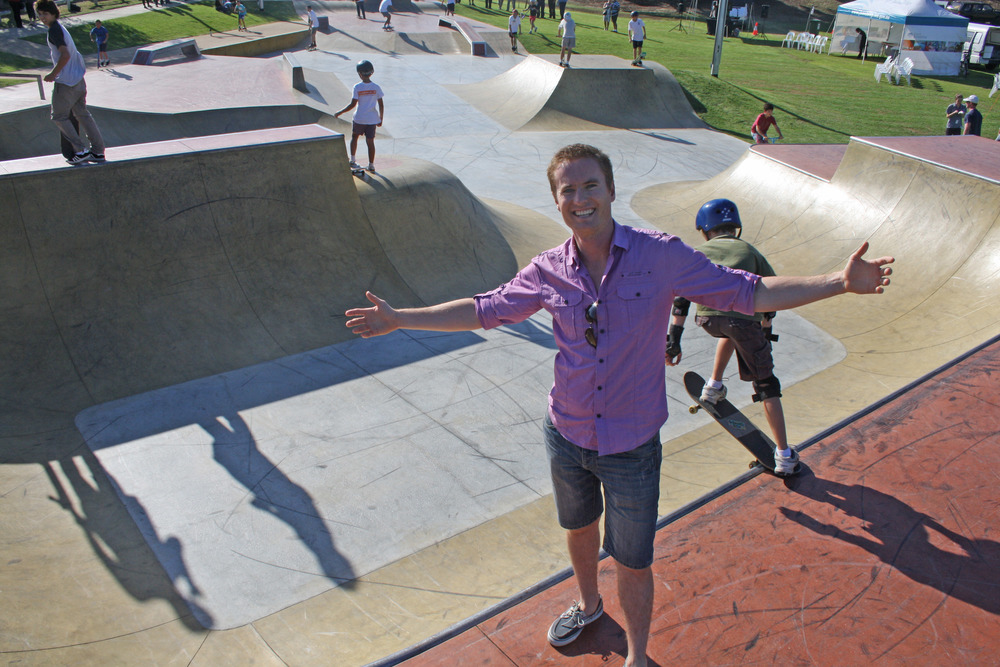 Albert at the opening of the Skate Park in Mullaloo.
