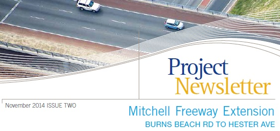 November 2014 - Mitchell Freeway Extension Project Newsletter