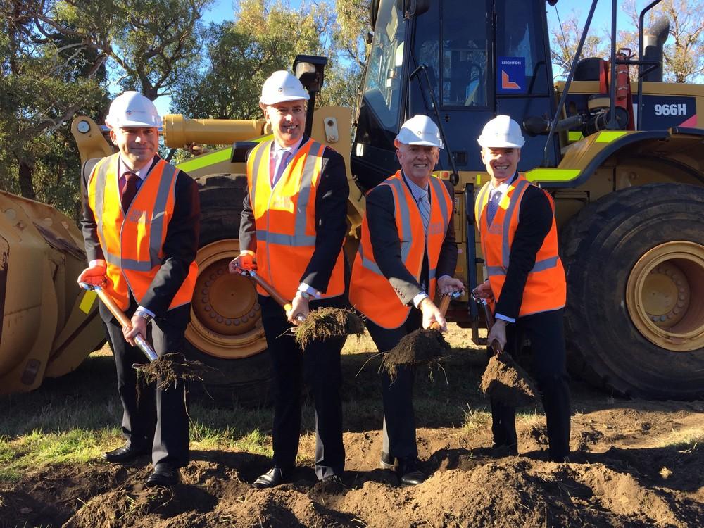 Albert with Joondalup MLA Jan Norberger, Transport Minister Dean Nalder & Wanneroo MLA Paul Miles.