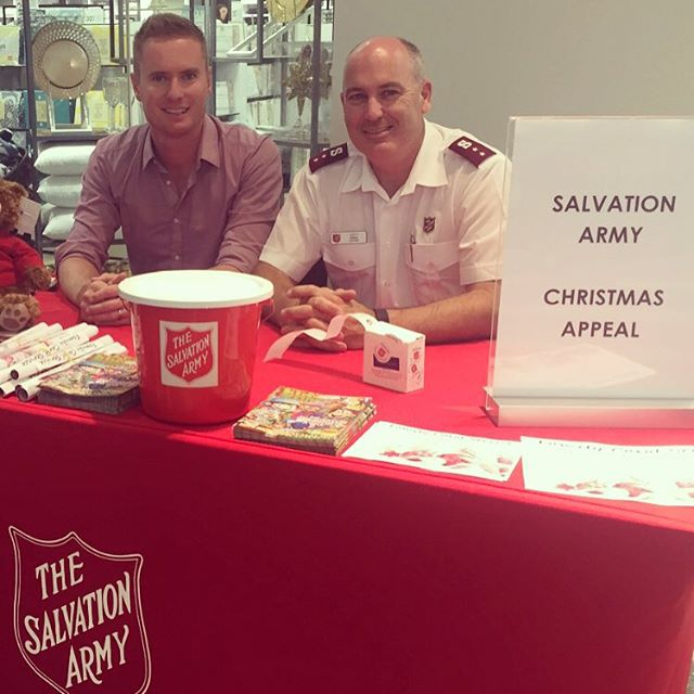 Happy to be helping the Salvation Army with their 2015 Christmas Appeal outside Myer in Lakeside Joondalup. Feel free to pop down to say hello from 1-3pm today, and 11am-1pm on 23 December - donations to the Salvation Army Christmas appeal are also welcome. #salvationarmy #christmasappeal