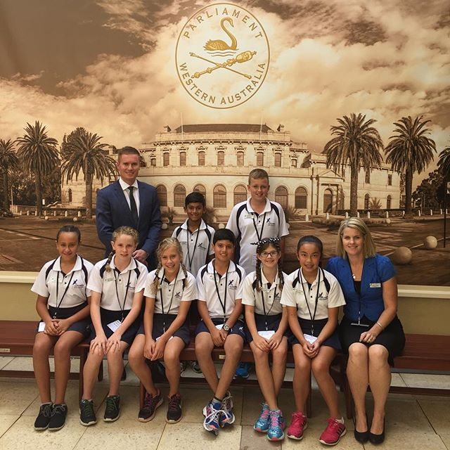 I was delighted to host Student Leaders from Currambine Primary School at Parliament House today. I always enjoy hearing about the aspirations of the students and their thoughts on politics.