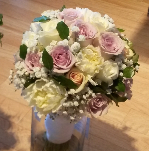 Mixed Flowers & Babies Breath Bride & 3 bridesmaids — The Lilac Tree ...