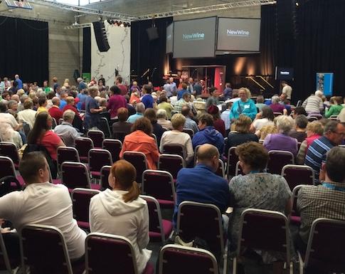 Sligo IT Arena filling up for the first evening celebration.