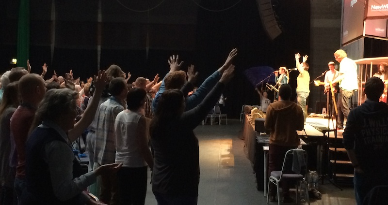 "Worshipping together on Monday evening… ""Hosanna, Hosanna, Hosanna in the highest.."""
