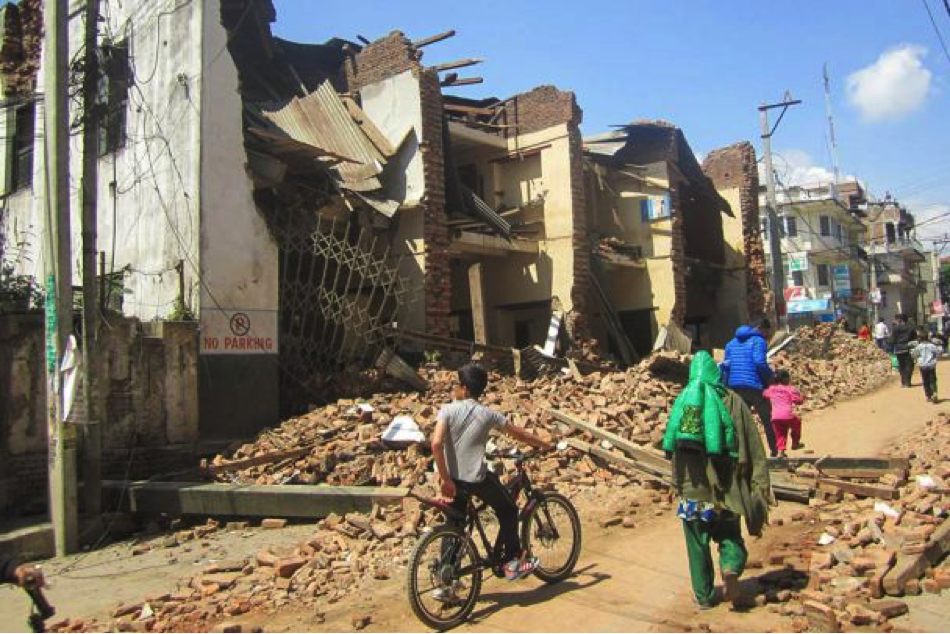 A devastated street in Kathmandu. Photo: Pranaya Chhetri/Tearfund