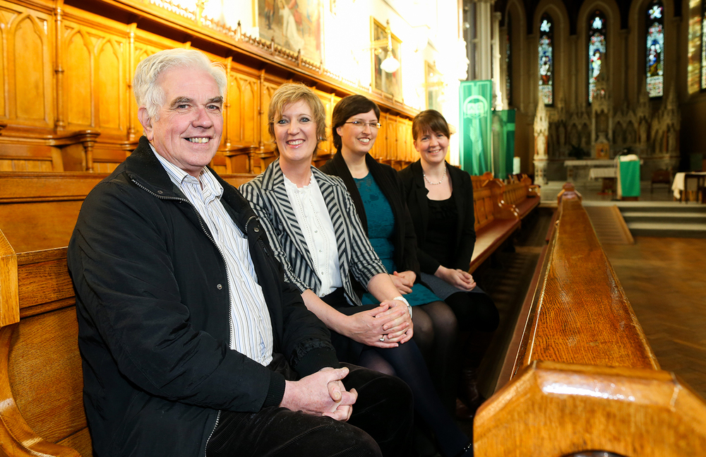 Fr. Peter McVerry, Sharan Kelly (Tearfund), Ruth Garvey-Williams (VOX) & Lydia Monds (Bishops' Appeal) Image: Maxwell Photography